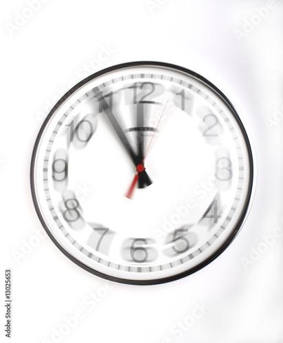Leinwanddruck Bild Die Zeit rast