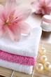 lilie handtücher entspannung