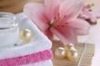 baden lilie handtücher entspannung