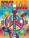 Fototapeta miłość - gitara - Znak / Symbol