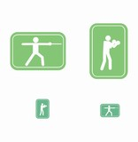 Boxing and fencing  pictograms