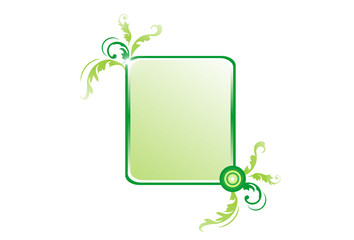 Green decorative frame