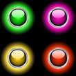 Glowing glossy buttons