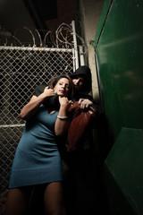 Man victimizing a woman