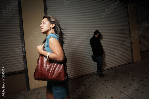 Woman being stalked