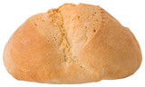 typical italian handcrafted bread on white background poster