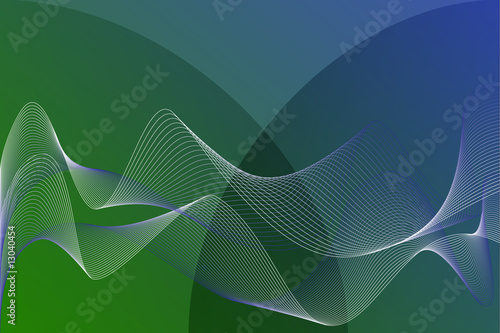 Teal Abstract Background with Ribbon Blend