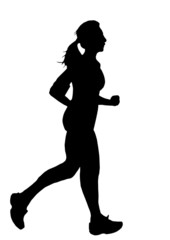 donna in corsa (vettoriale)