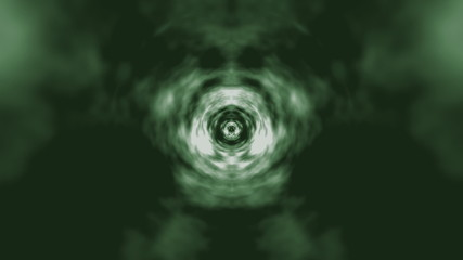 Warptunnel Green. CG.