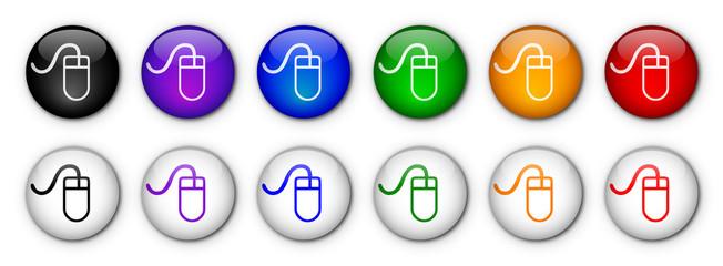 """""""Mouse"""" Buttons  (x12 - various colours)"""