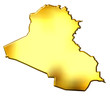 Iraq 3d Golden Map