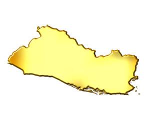 El Salvador 3d Golden Map
