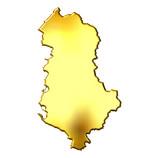Albania 3d Golden Map poster