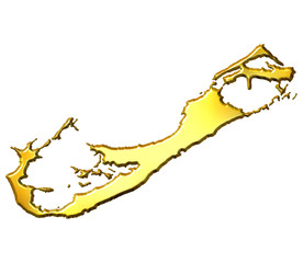 Bermuda 3d Golden Map