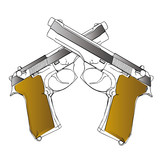 vector guns - 3d illustration on white background
