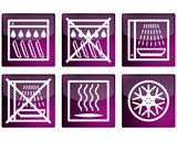 Set of vector pictograms poster