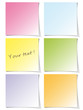 Colorful post-it set