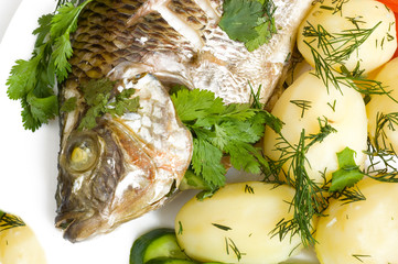 fish with potato