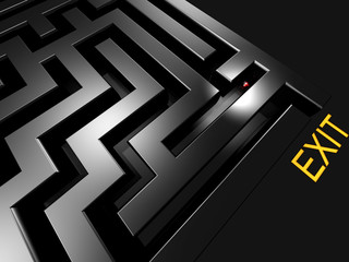 lost in maze looking for exit 3d rendered illustration