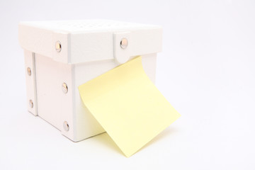 Present box with note