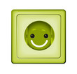 Steckdose mit Smiley gesicht