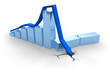 Blue crisis chart