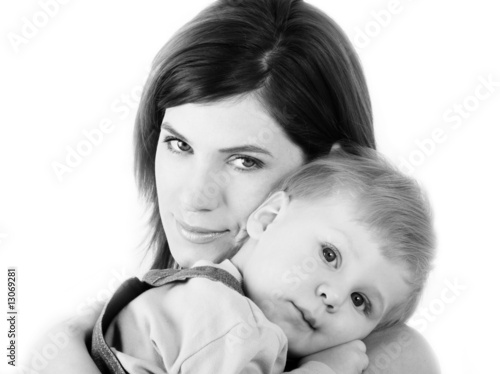 young mum with son