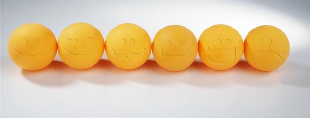 Orange spheres