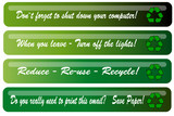 Office reminder headers for recycling poster