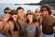 groupes d'amis à la mer