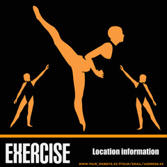 Dance Exercise Flyer