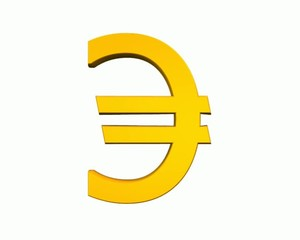 Euro rotation Animation loop 360°