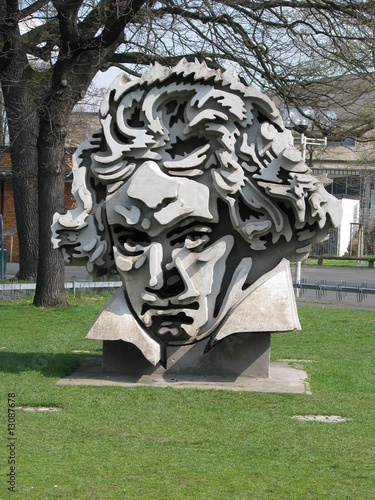 Leinwanddruck Bild Beethovendenkmal Bonn