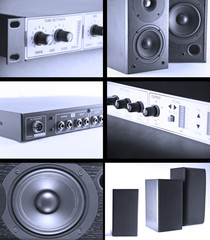 Audio equipment collage
