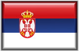 Flag of Serbia poster