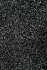 Freshly paved asphalt