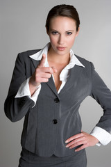 Pointing Businesswoman