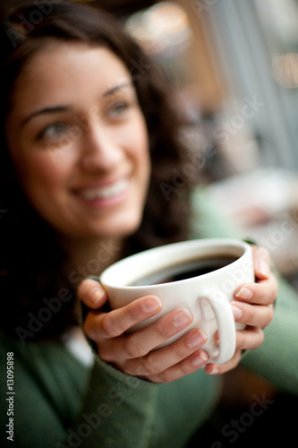 Laughing with a Cup of Coffee