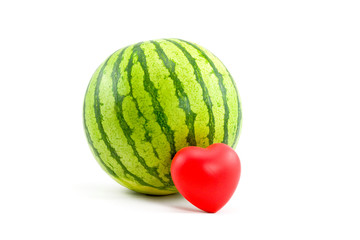 Watermelon and Heart