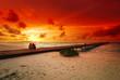 Quadro Romantic couple and sunset