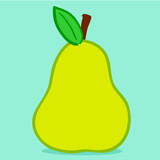 Pear - doodle poster