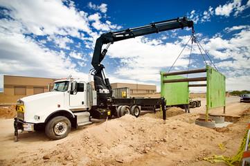 Truck Mounted Crane Trench Shoring Equipment