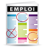 Journal page emploi poster