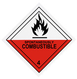 Spontaneously Combustible Warning Label poster