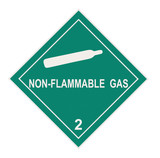 Non-flammable Gas Warning Label poster
