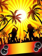 Summer disco-party