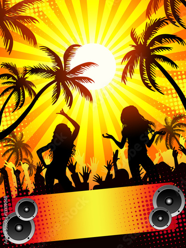 Summer disco-party