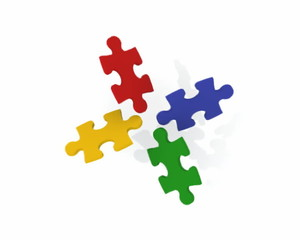 Bunte Puzzle-Teile