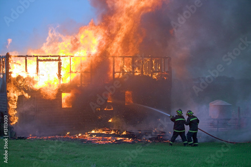Firefighters taking control