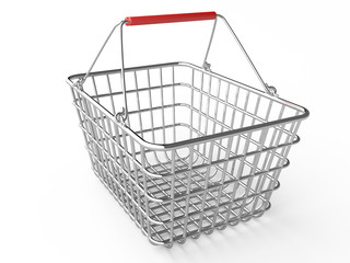 Empty shopping basket (chrome)